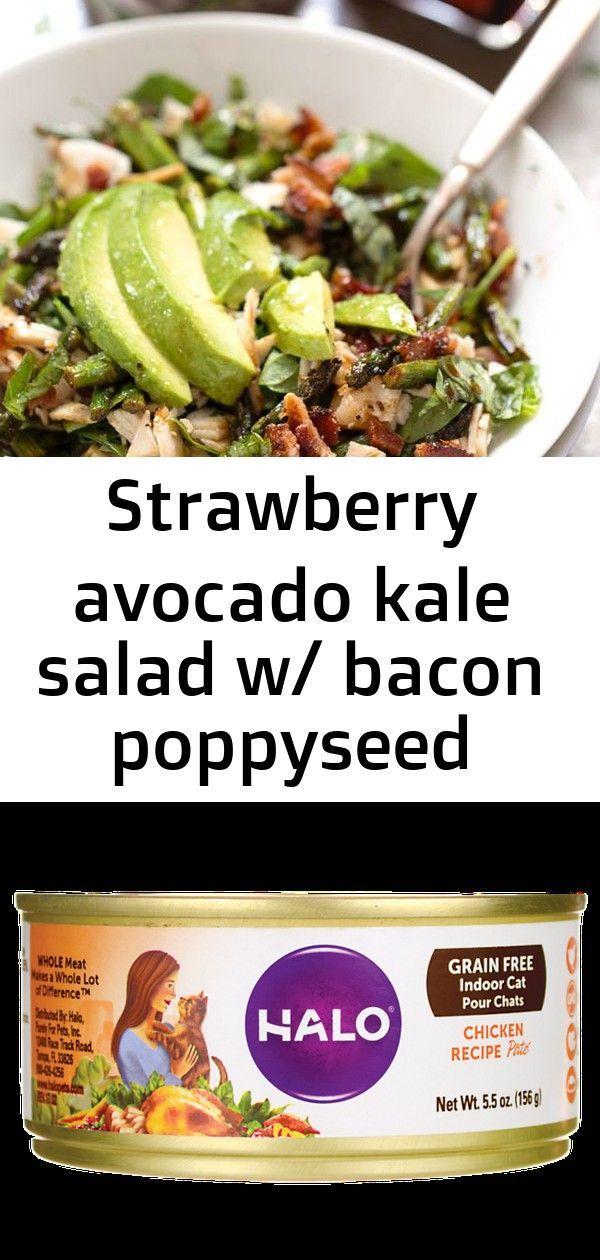 Strawberry avocado kale salad w/ bacon poppyseed dressing - (free recipe below) 20 Strawberry avoca