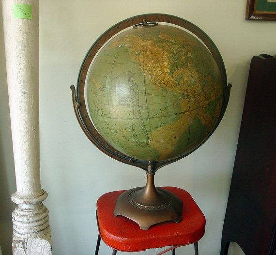 antique large hammond moving globe on stand circa by 1560main on