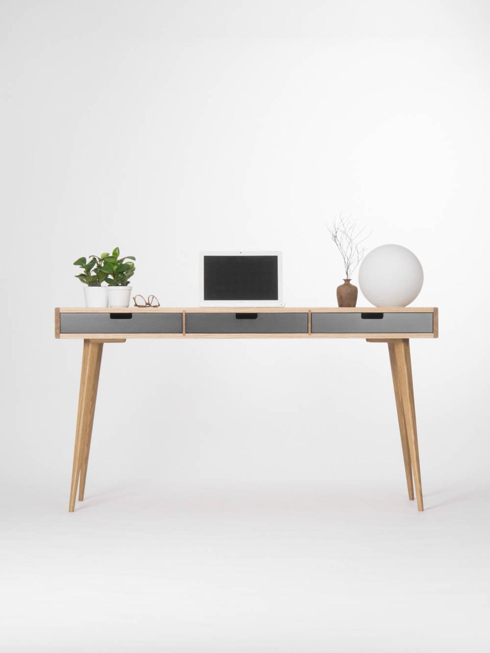 White Black Office Desk Modern 55 In 2020 Black Desk Office Modern Desk Office Desk