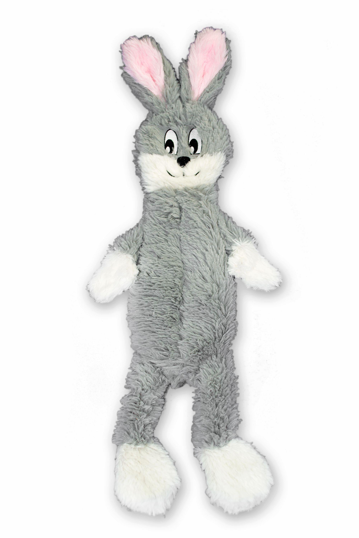 Fga Marketplace Stuffingless Grey Rabbit Flat Dog Toys No
