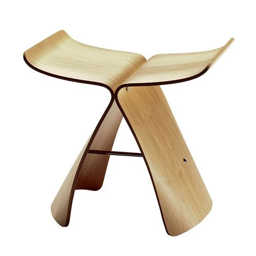 butterfly stool by vitra designed by sori yanagi in palissander
