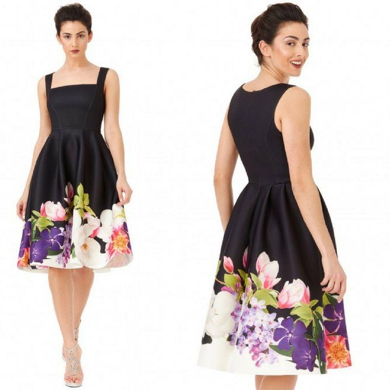 Vintage vestito cocktail in spugna motivo floreale Colori come nella foto  https   www cc66d5b3e2a