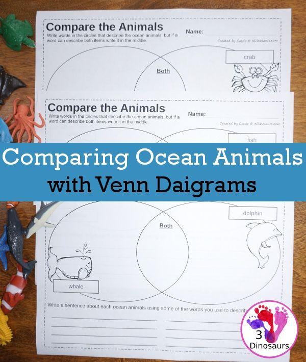 Comparing Ocean Animals With A Venn Diagram Venn Diagrams Diagram
