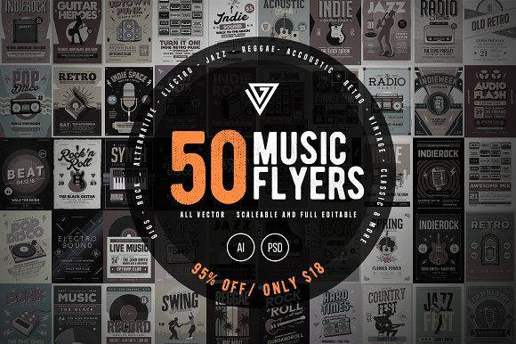 Music Flyer Bundle By Guuver On Creativemarket  Creative
