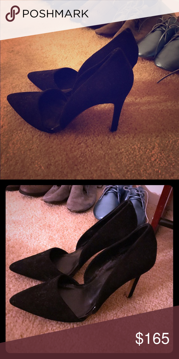 Suede Black Banana Republic a Pointy Heels Pumps 6 gorgeous suede heels from Banana Republic. perfect for your career or just for a day looking classy. worn twice in excellent perfect condition- pretty much like new. retail value $165 so this is a great bargain! Banana Republic Shoes Heels