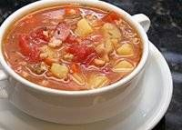 Dairy Free Manhattan Clam Chowder.  Use allowed vegetables and seasonings.  Use canned tomatoes with allowed ingredients or use fresh tomatoes.