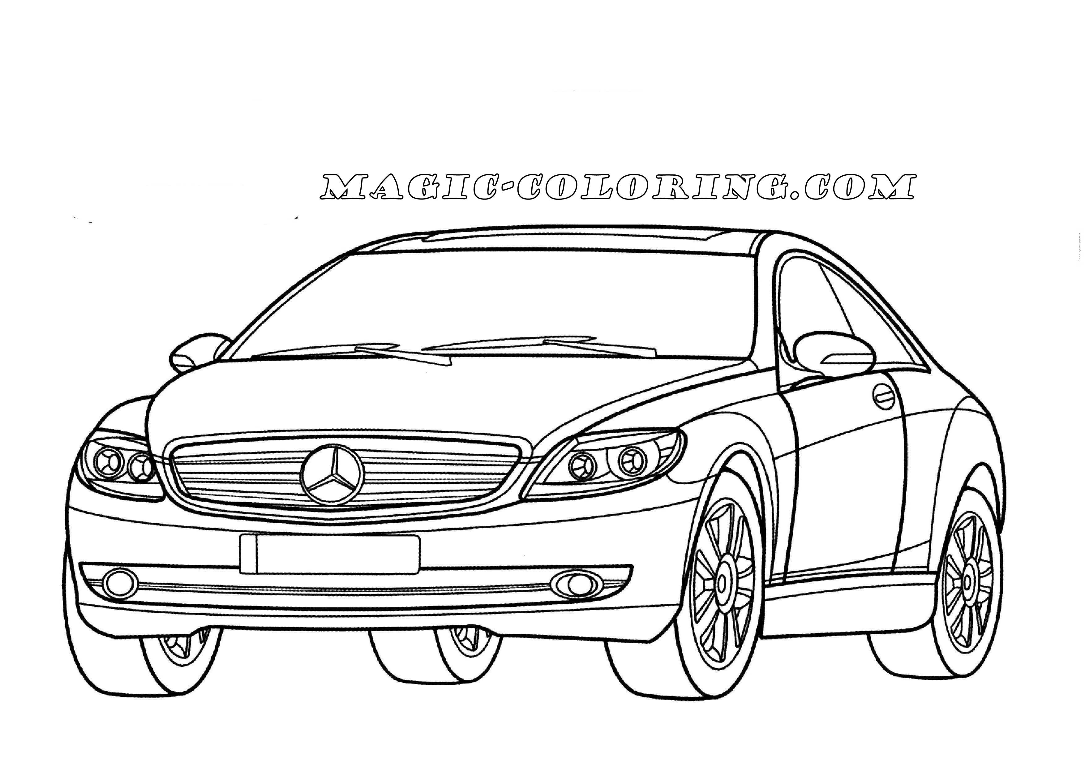 Mercedes Benz Cl Class W216 Coloring Page Mercedes Benz Cl Sports Coloring Pages Coloring Pages