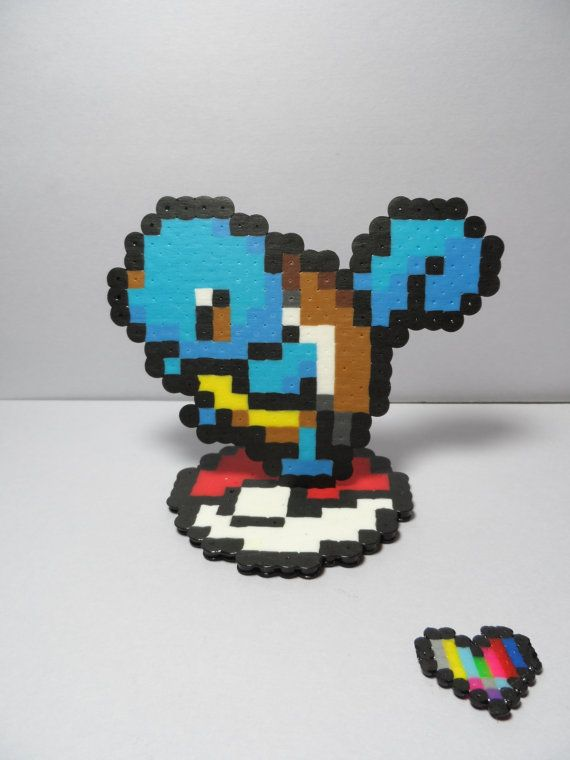 Hey, I found this really awesome Etsy listing at https://www.etsy.com/listing/174838157/3d-squirtle-perler-sprite-on-pokeball