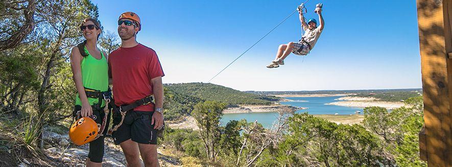 Enjoy ziplining through Lake Travis in Austin Texas. Bring