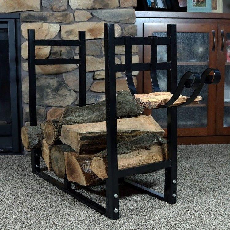 Attrayant Firewood Log Rack Wood Storage Indoor Outdoor Kindling Holder Fireplace  Winter