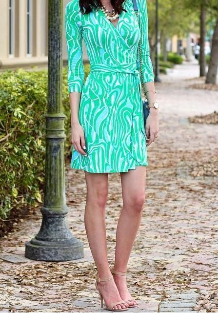 5e1b531bd9b37a Meridan Printed Wrap Dress   Style Seen   Dresses, Fashion, Wrap dress
