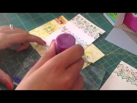 Tim holtz distress pains and distress stain techniques - YouTube