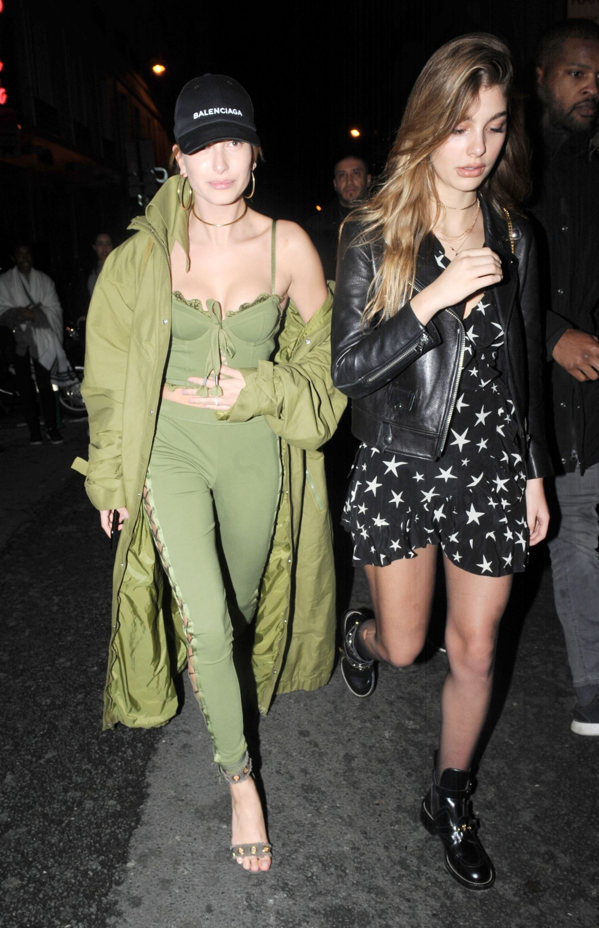hailey baldwin and cami morrone leavies pink pariadie strip club in paris 03 01 2017 fashion. Black Bedroom Furniture Sets. Home Design Ideas
