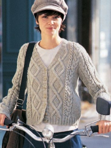 Cozy Cabled Sweater Knitting Patterns Yarns And Crochet