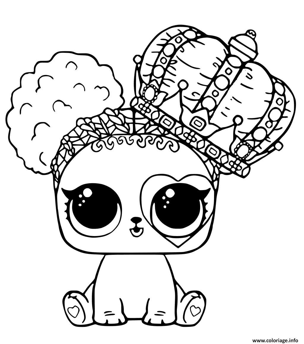Coloriage En Ligne Lol.Coloriage Poupee Lol Cute Lol Surprise Pets A Imprimer Coloriage A