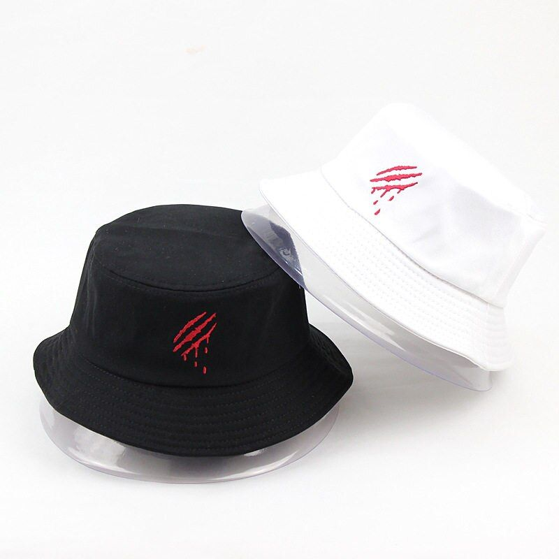 f8c9956a LDSLYJR 2018 Cotton embroidery Bucket Hat Fisherman Hat outdoor travel hat  Sun Cap Hats for Men