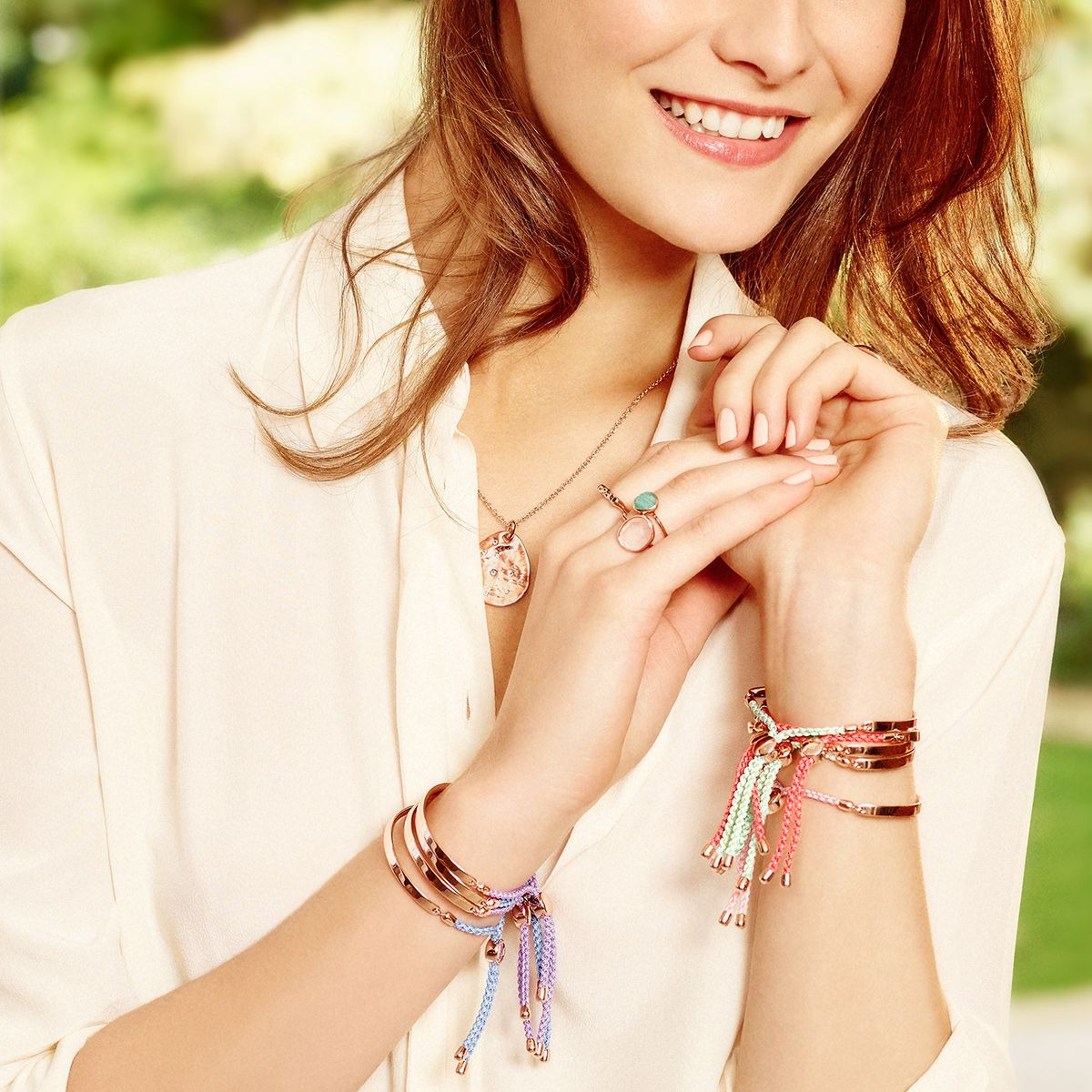 1635fced19c583 Seasonal stacking with the new Fiji Spring Edit. New #MonicaVinader Fiji  cord colours are only available for Spring/Summer 2016! #MVICONS