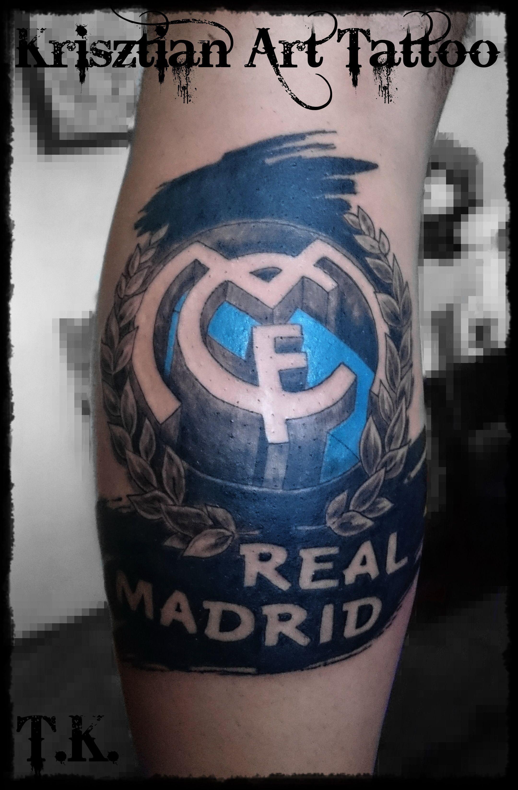 Krisztian art tattoo real madrid tattoos pinterest for Real madrid tattoos