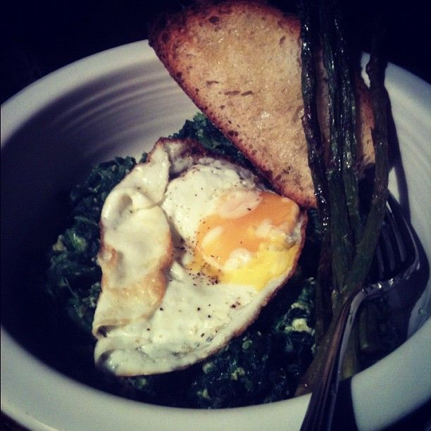 Spinach and Egg. One of my favorites.