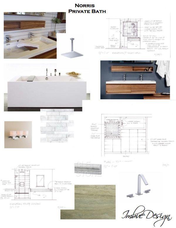 Concept Board Bathroom Architecture Salon Moodboard Tendance