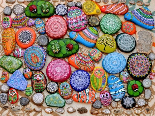 Rock Painting ideas y diseños para decoraciones de jardín