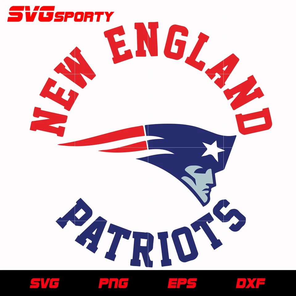 New England Patriots Circle 2 Svg Nfl Svg Eps Dxf Png Digital File In 2020 Patriots New England Patriots Svg