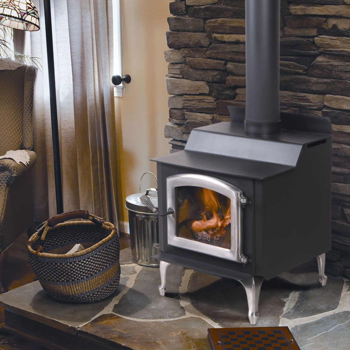 Kuma Tamarack wood stove, made in the USA https//www