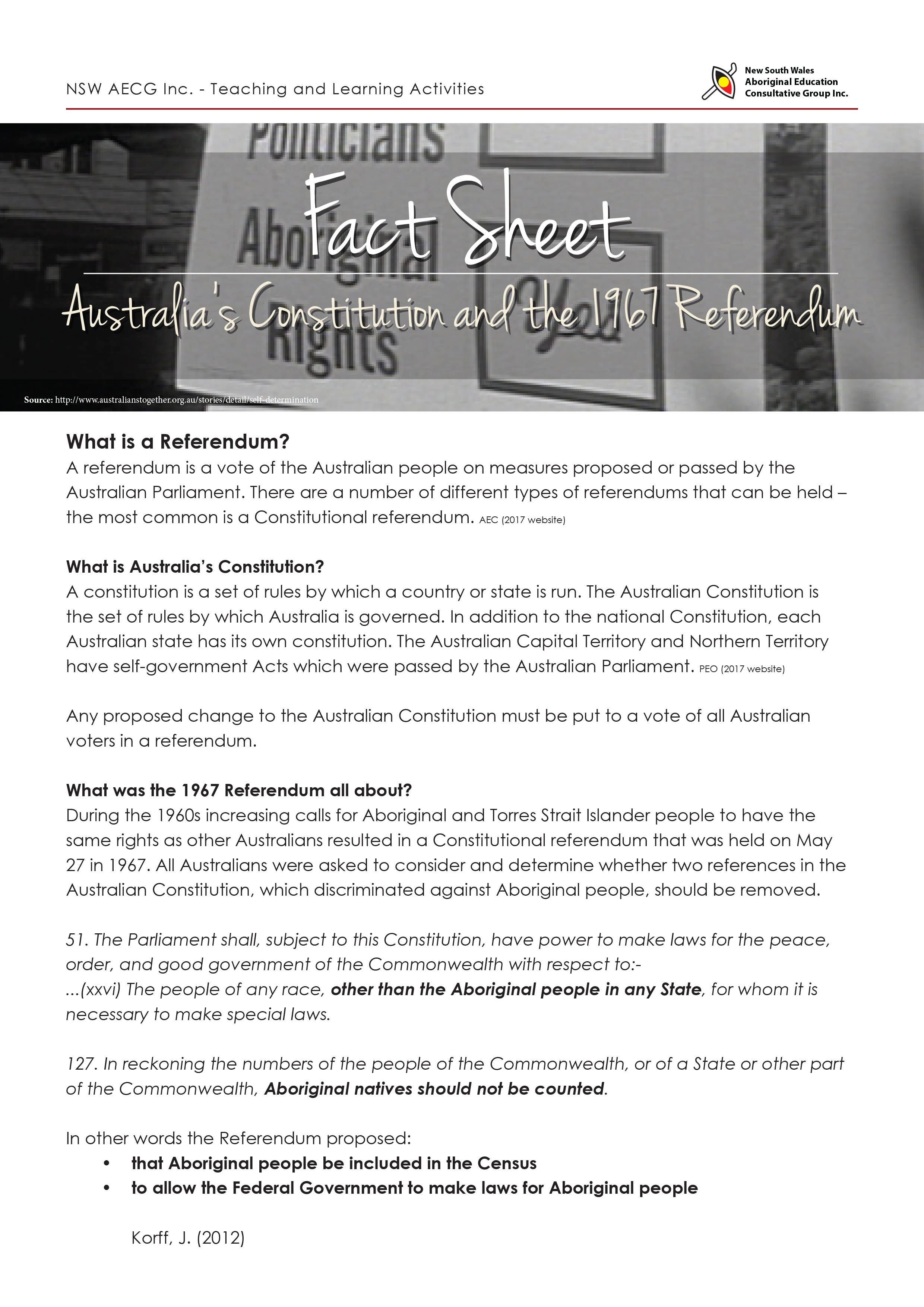 The Referendum Fact Sheet Teaching And Learning