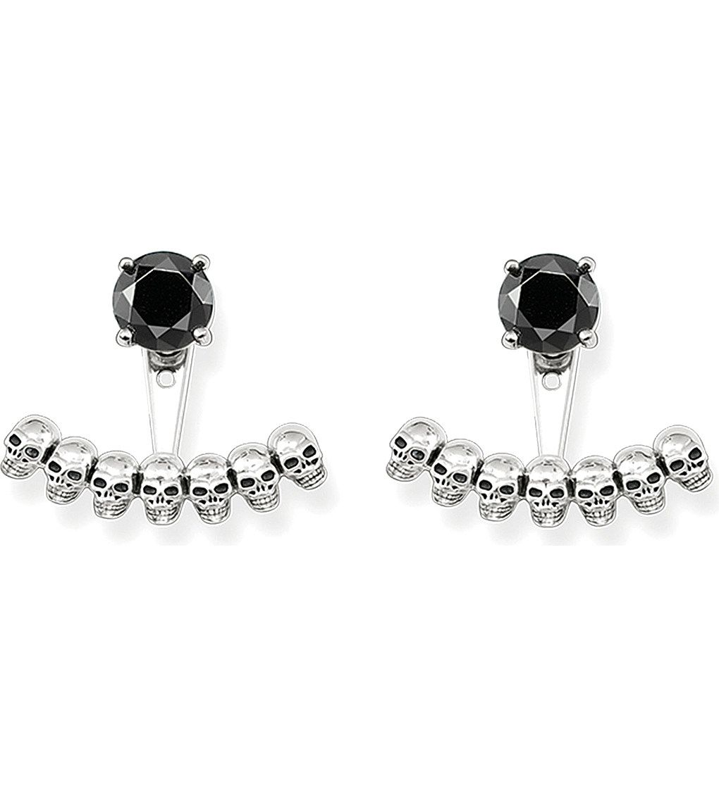 a28a3a3a7 THOMAS SABO Sterling silver skull and black onyx ear jackets | My ...