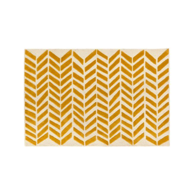 4x6' Yellow Chevron Rug + Reviews | Crate and Barrel