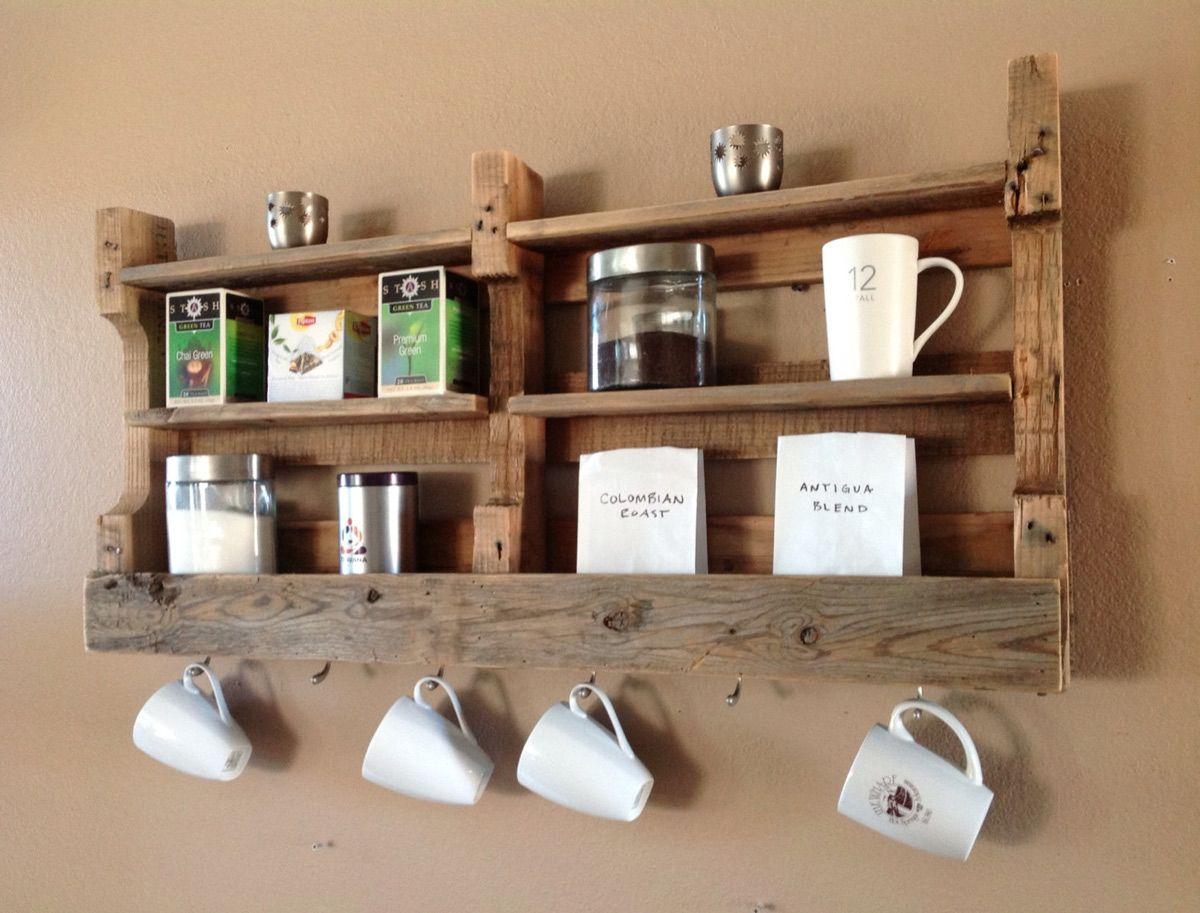 Reclaimed Wood Made Into A Shelf For Photos Nick Nacks Instead Of Coffee Tea