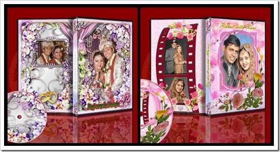 Edit Your Photos: Wedding Dvd Case And Cd Cover Templates Psd