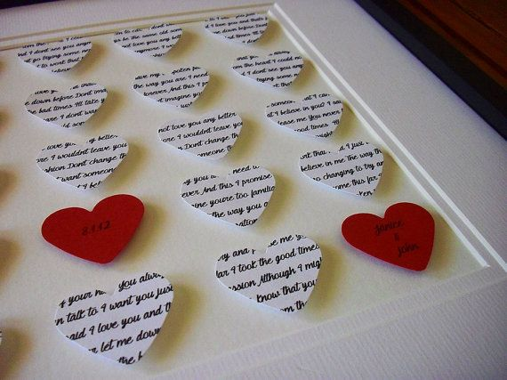First dance lyrics print anniversary gifts for couples song