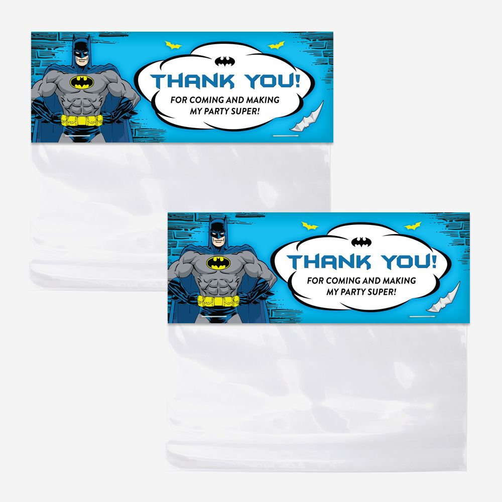 Batman Bag Toppers Printable Favor Bag Toppers Birthday Party