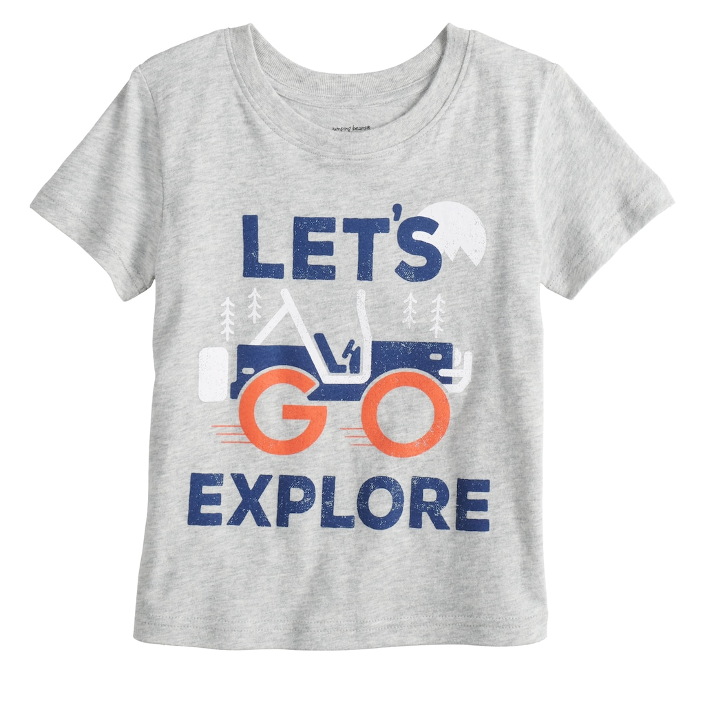 e3ce3997 Toddler Boy Jumping Beans Heathered Graphic Tee, Boy's, Size: 3T ...
