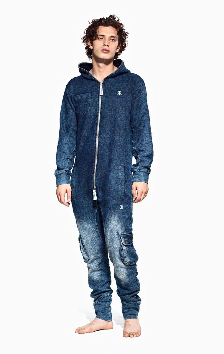 Supremacy onesie worn denim onesie denim man and male for Mens dress shirt onesie