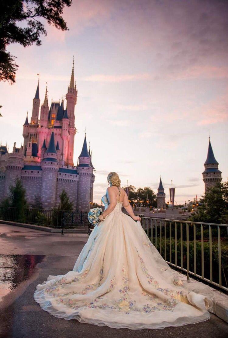 Disney Wedding Magic Kingdom Walt World Cinderella Castle Worlds