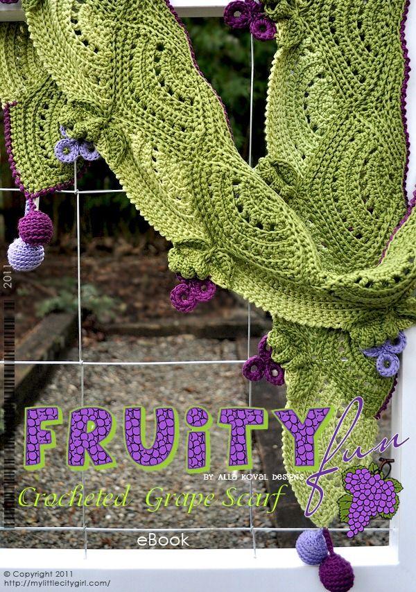 Grape Crochet Scarf Pattern For Kids Women My Little Citygirl