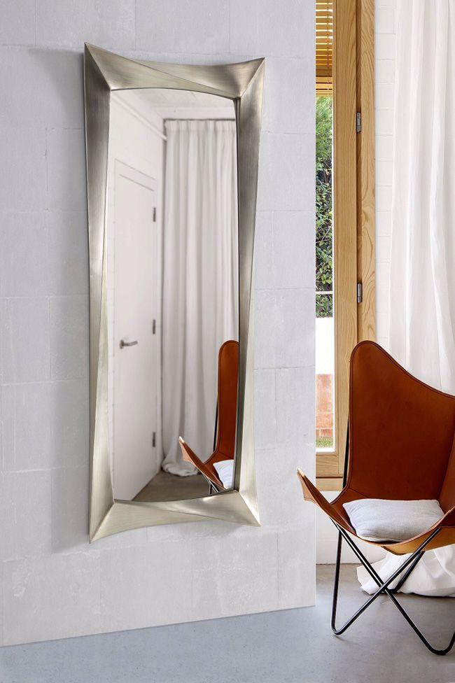 Espejo vestidor en plata espejo vestidor espejos para for Espejo pared plata