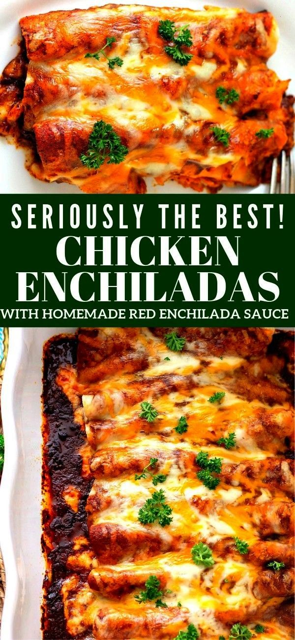 of these delicious Chicken with Homemade Red Enchilada Sauce is packed with flavorEvery layer of these delicious Chicken with Homemade Red Enchilada Sauce is packed with...