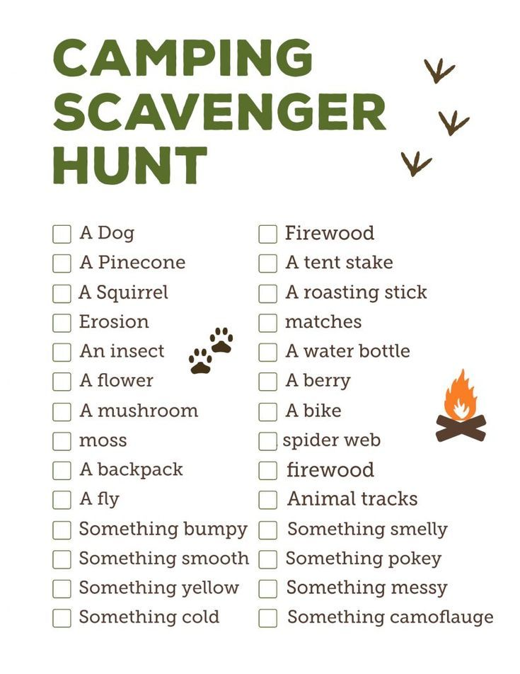 Camping Scavenger Hunt Printable | Cub scouts | Camping ...