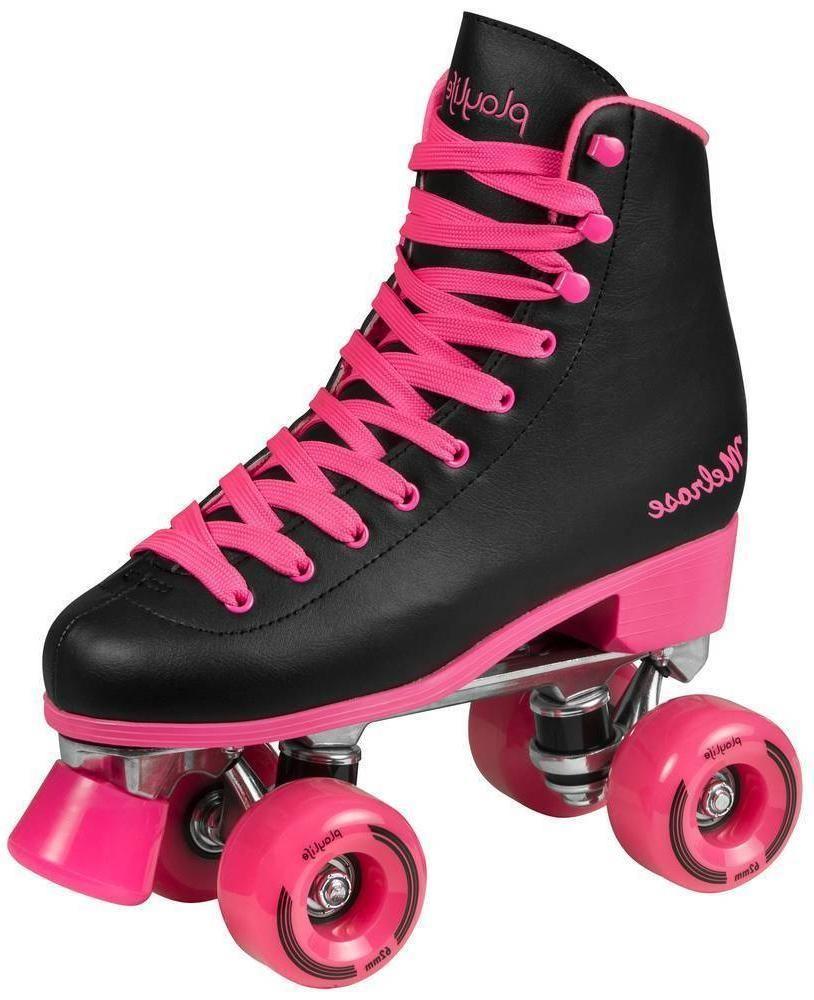 Playlife Melrose Black Pink Roller Skates Black Roller Skates Pink Roller Skates Roller Skates