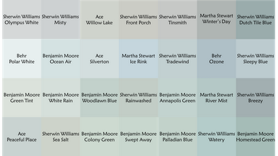 Bonnie loves all the same colors I do I think SherwinWilliams is