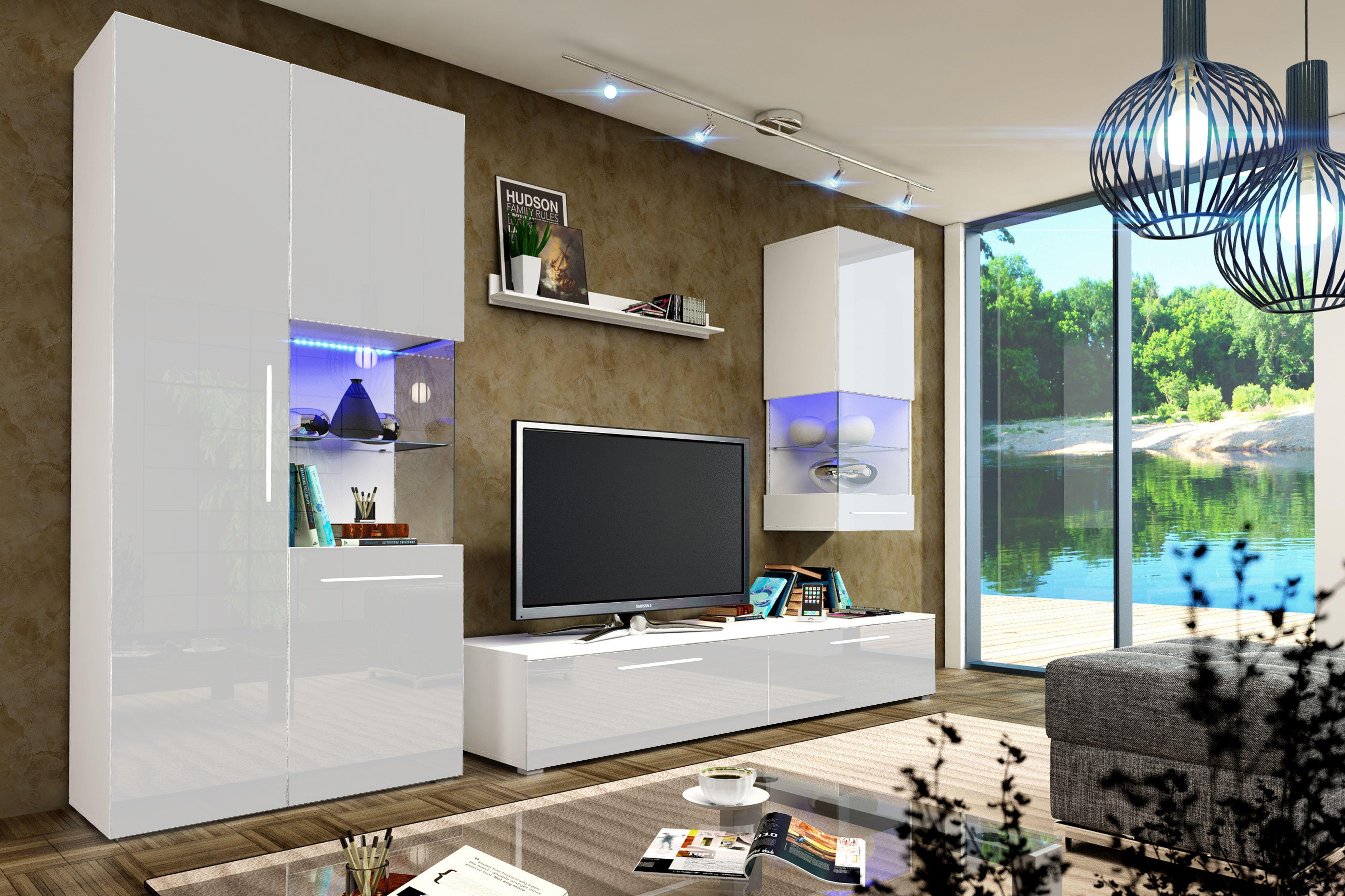 Die moderne Wohnzimmerwand Nice I vereint die Eleganz des ...