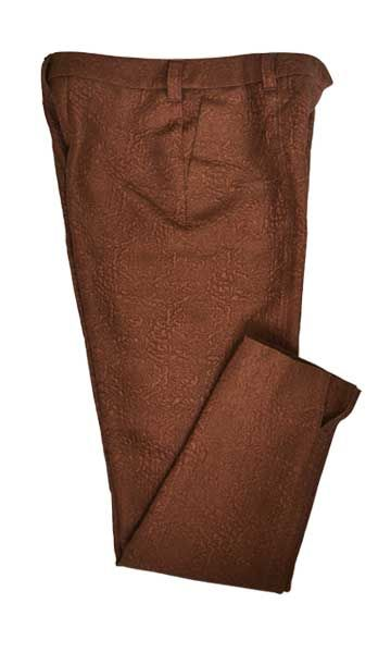 Jacquard brown pants from showroom NVU