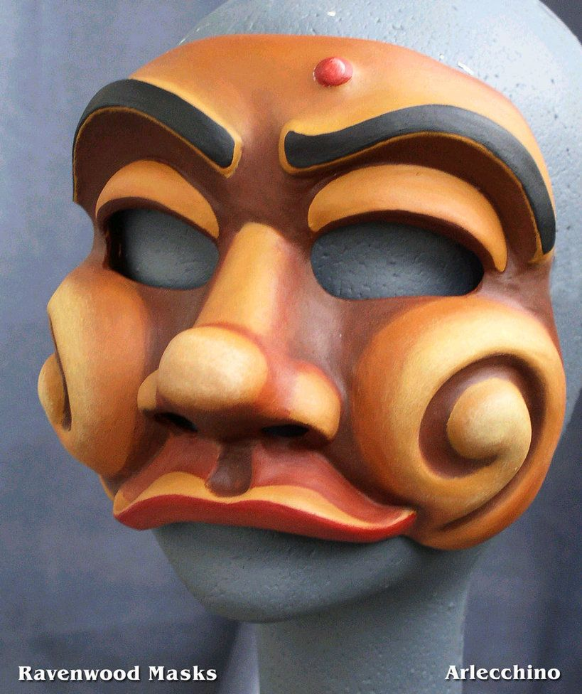Arlecchino Commedia Mask by ~Alyssa-Ravenwood on deviantART  837d7da5c5b