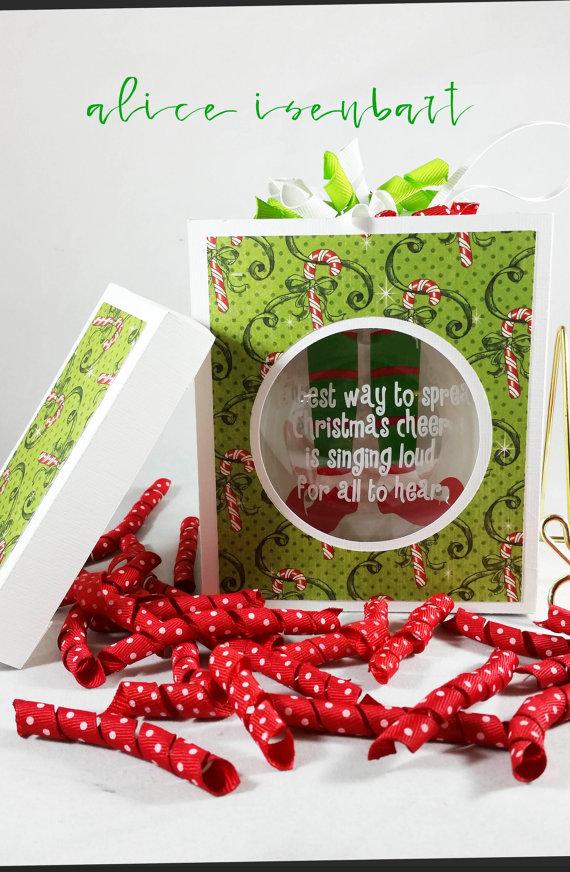 4 Flat Disc Ornament Box Template Digital by