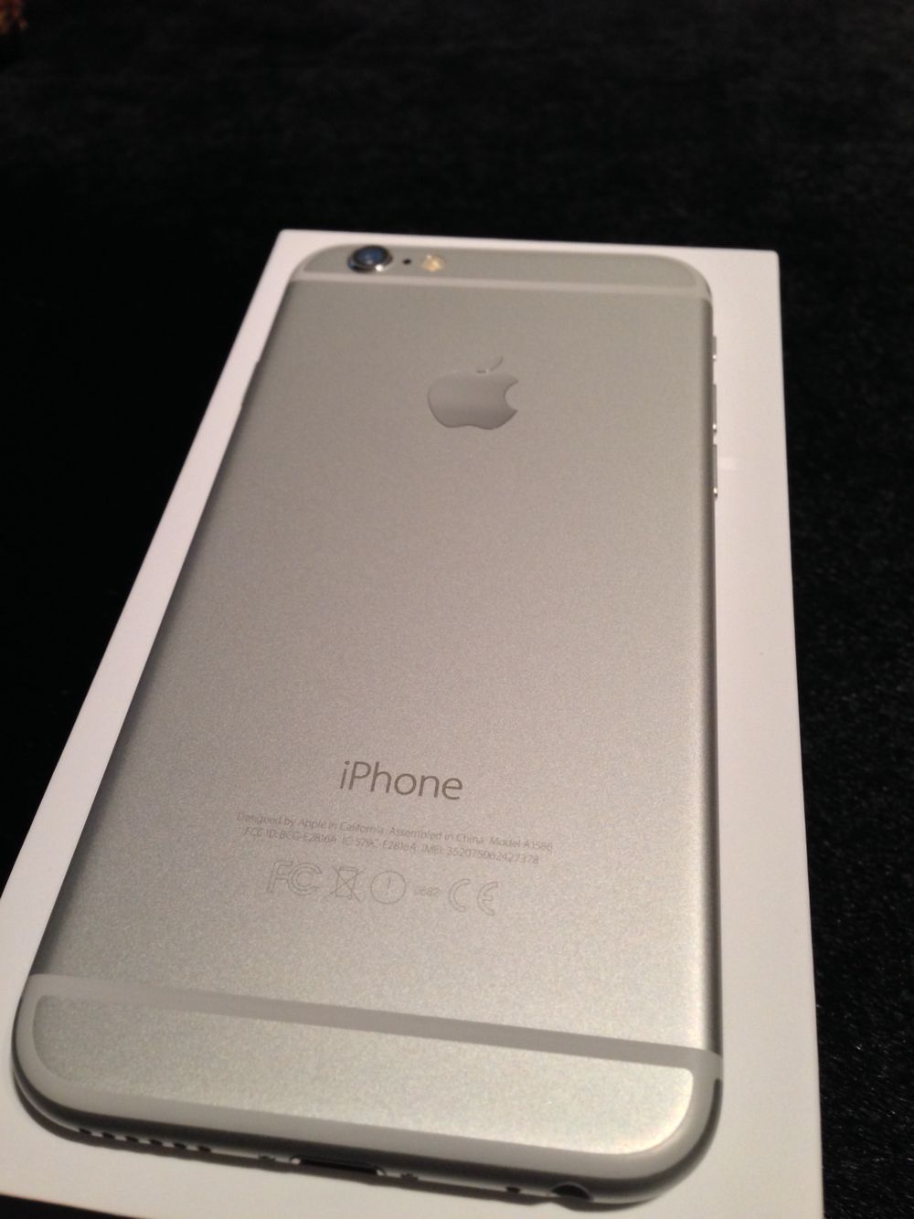 My new iPhone 6 silver 64 gig freed at last!