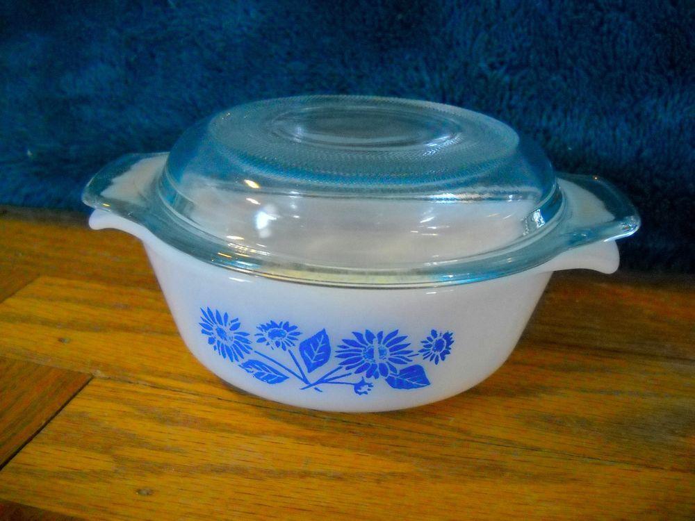 #Vintage #ANCHORHOCKING #FireKing #472 #Blue #BlueCornflower #Cornflower #Casserole #Dish #CasseroleDish (12oz)