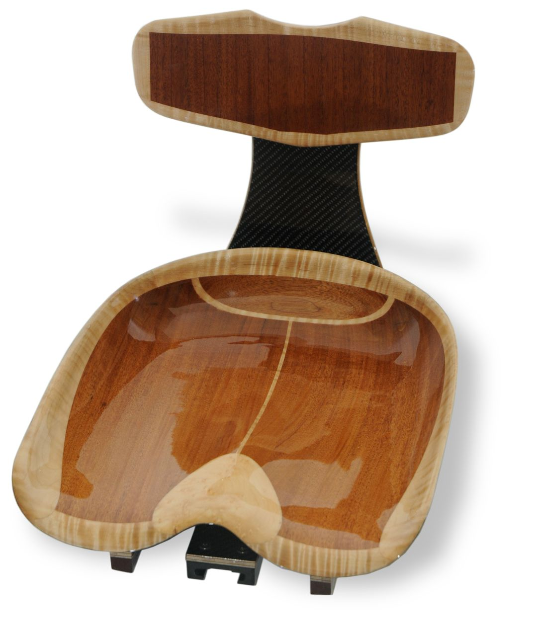 Tractor Seat Boat : This carved wooden seat is much like old cast iron tractor